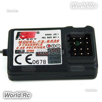 Flysky FS-GR3E 2.4Ghz 3-Channel Receiver for Rc Car Auto Boat Transmitter