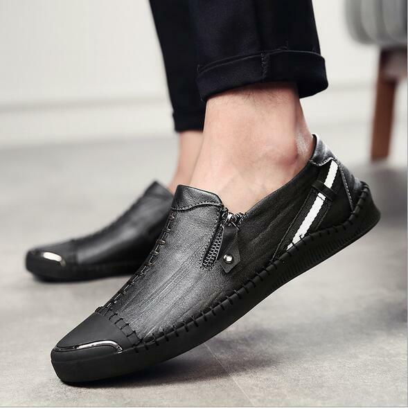 Uomo 2018 Casual Casual Casual Synthetic Pelle Loafers Shoes Breathable Flat Driving Sneaker f82535