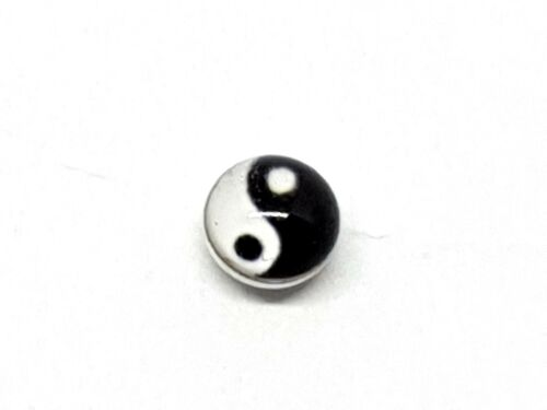 22g Nose Stud Yin Yang Sterling Silver 3mm Ball Stud 0.6mm Silver Ball Stay
