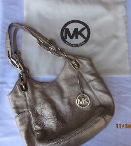 Michael-Kors-Gold-Pebbled-Leather-Hobo-Shoulder-Tote-Handbag
