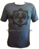 Gears Of War 4 Logo Men's T Shirt Blue Choose Your Size X Box One Licensed