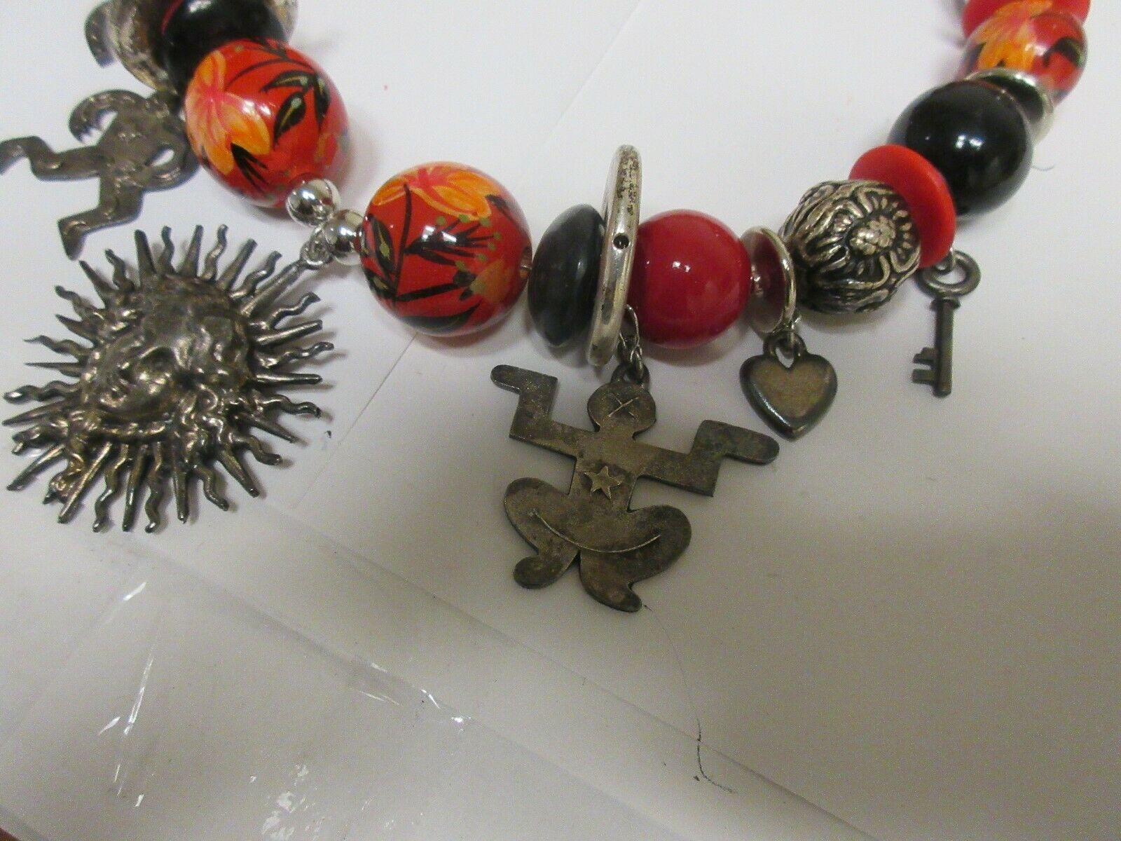 Costume Jewelry , Vintage , Multi Color , Charms , Smil