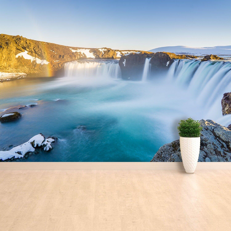 Fototapete Selbstklebend Einfach ablösbar Mehrfach klebbar Wasserfall Island