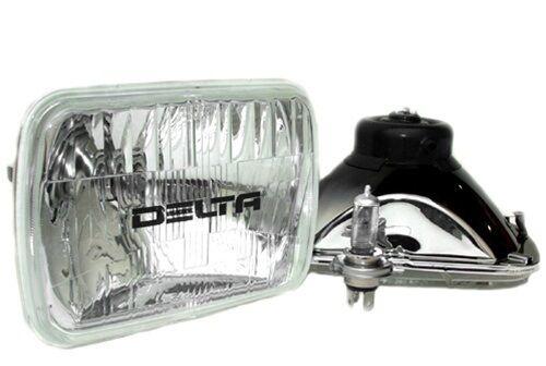 DELTA TECH LIGHTING 01-1249-50 Rectangular 1249 Series 200mm H4 Healights (Pair)