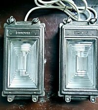 Pair of Industrial Vintage Bulkhead Lights from MOD bunker