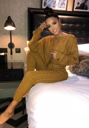RRP £44.99 Mustard 2 Piece knitted Comfy Loungewear Set