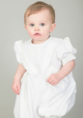 Baby Boys Christening Outfit / Christening Suit Romper White Diamond New A Great Variety Of Goods