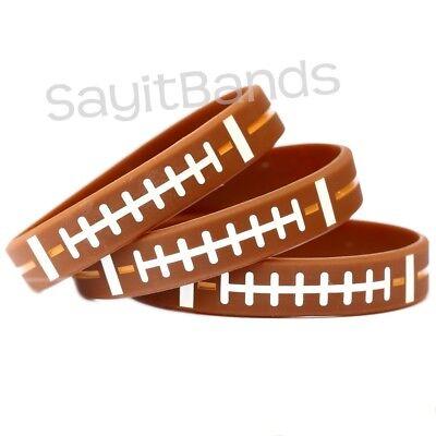 Set of SOFTBALL Thread Silicone Wristbands Wholesale Wrist Band Bracelet Lot