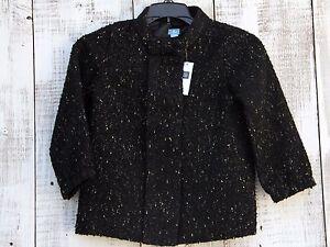 0a8cb9628640 Baby GAP Kids Girls NEW Sz 12-18 Mo 3T Wool Blend Black Light Jacket ...