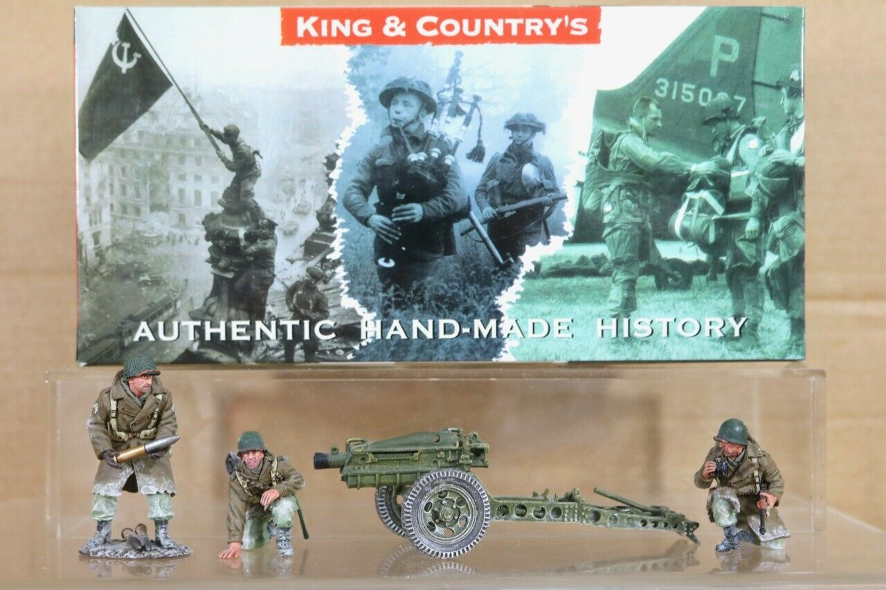 KING & & COUNTRY BBA009 BATTLE of the BULGE AMERICAN PAK HOWITZER SET BOXED nt