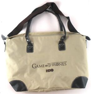 Game-of-Thrones-HBO-Zippered-Nylon-Tote-Bag-With-Shoulder-Strap-amp-Handles
