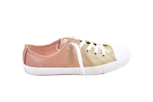 723df790d22b Converse Women s CTAS Dainty OX 559870 Sneakers Gold Pink UK 6 RRP ...