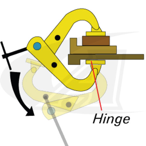 """T-Handle Shark Clamp with 5/"""" Clamping Capacity"""