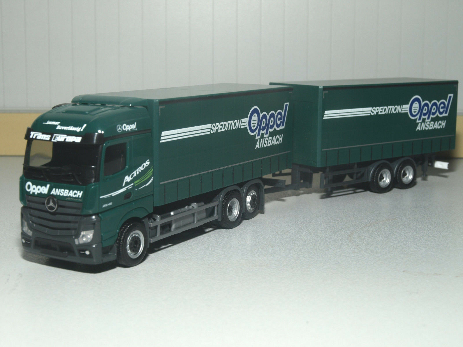 Herpa MB Actros Streamspace 2.5 rideaux planifier-Hängerzug OppeI Ansbach Ansbach Ansbach 307376 e6340a