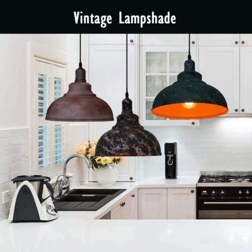 Industrial Retro Vintage Ceiling Light Chandelier Iron Pendant Lamp Loft Hanging
