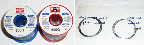 "0.9mm or 1.6mm /""Multicore/"" Alusol 45D 1 Metre of Aluminium Solder"