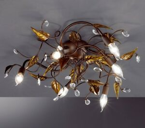 plafonnier style campagne lustre dessin floral lampe suspension luminaire 4018 ebay. Black Bedroom Furniture Sets. Home Design Ideas
