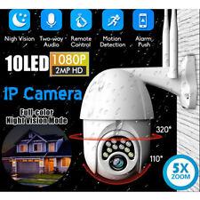 1080P HD IP66 CCTV Camera Waterproof Outdoor WiFi PTZ Security Wireless IR Cam
