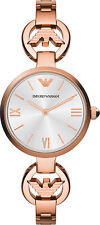 Emporio Armani AR1773,Full Rose Gold Jewelry Inspired Watch for Women MOP Dia