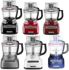 Details About New KitchenAid 13 Cup Wide Mouth Food Processor KFP1333 Big  Size 6 Colors