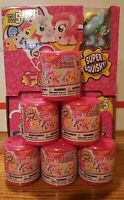 6x My Little Pony Super Squishy Fashems Series 5 Blind Bag Capsule Lot Of 6