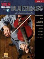 Bluegrass Sheet Music Violin Play-along Book And Audio 000842152