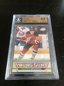 Upper-Deck-Series-One-2013-14-Damien-Brunner-High-Gloss-02-10-Graded-Beckett-9-5