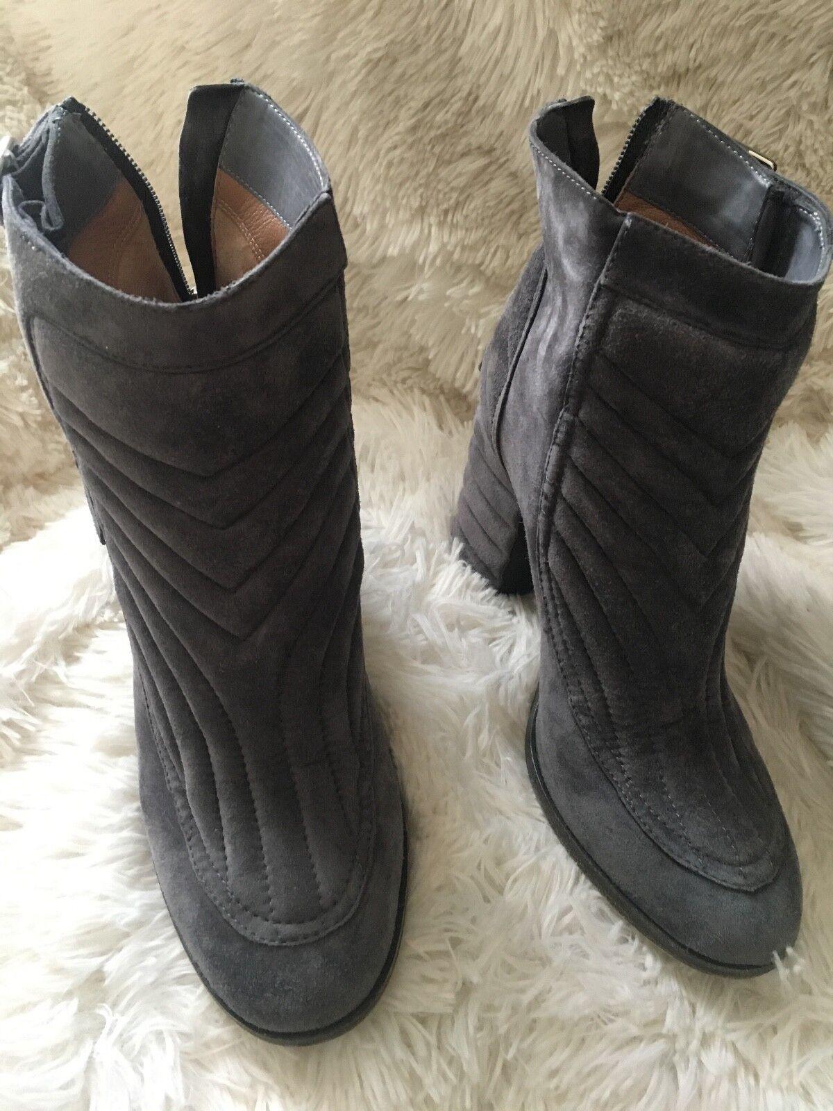 LAURENCE DACADE Barbara suede quilted boots/booties grey 38