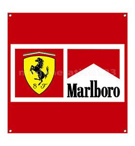 Ferrari automobile rétro en métal aluminium SIGNE VINTAGE//man cave//garage