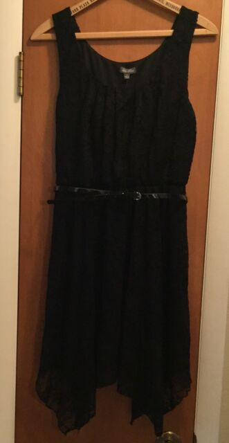 61227d31d394ee NWT Lily Rose Brand Girls Women's Junior Size Large Black Belted Lace Dress