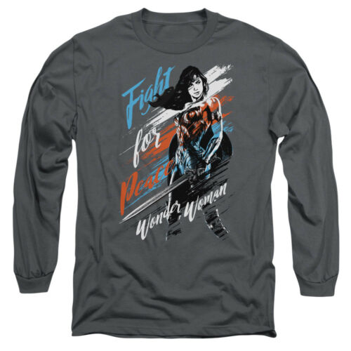 Wonder Woman Movie FIGHT FOR PEACE Licensed Adult Long Sleeve T-Shirt S-3XL