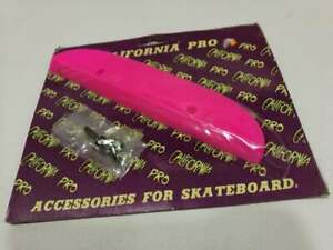 VINTAGE-SKATEBOARD-CALIFORNIA-PRO-8-5-PINK-TAIL-GUARD-SAVER-OLD-SCHOOL-BLISTER