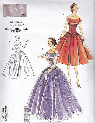 Vogue Vintage Original 1955 Design Dress Sewing pattern from UK V1094