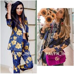 Fav xs Blomster L nwt M S Jacket Jacquard Blazer Rare Bloggers Aw18 Zara qO4Z46f