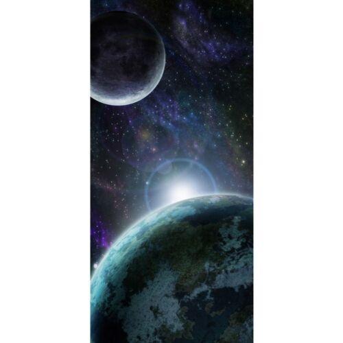 """229/"""" Porte Papier Peint /""""No 100x211 cm Liwwing Spatiale Terre Lune Espace R"""