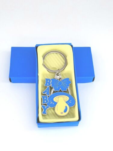 12xBaby Shower Pacifier Keychain Party Favors Blue Boy//Niño Llaveros//Keyring