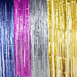 Image Is Loading 2 5M Shimmer Door Curtain Fringe Garlands All