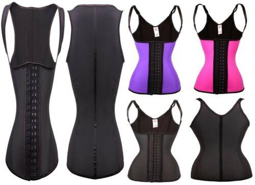 100/% GENUINE Latex Waist Trainer Cincher Vest Shoulder Straps Body Shaper Sport