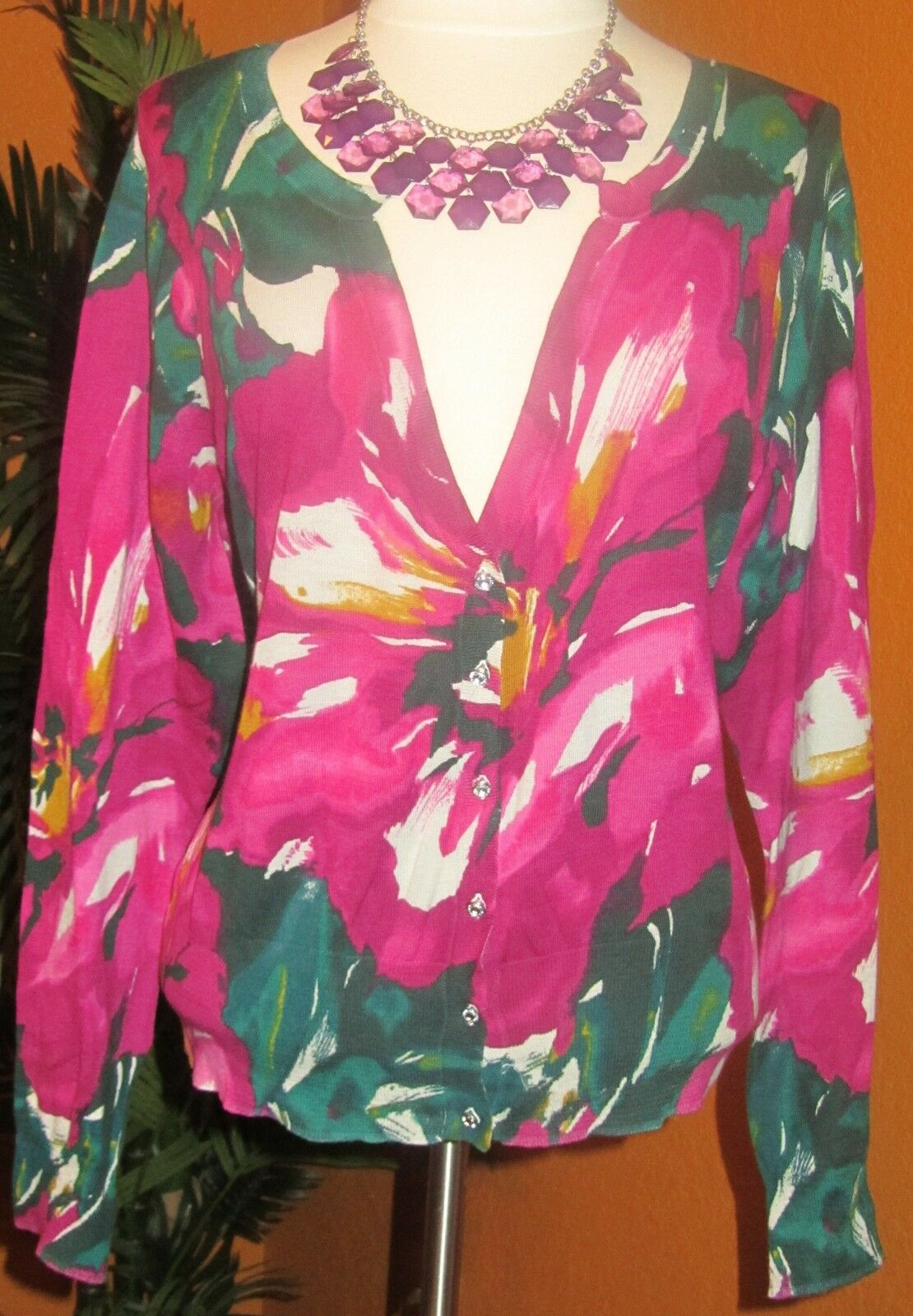 LANE BRYANT NWT   60 flowers cardigan women's floral sweater