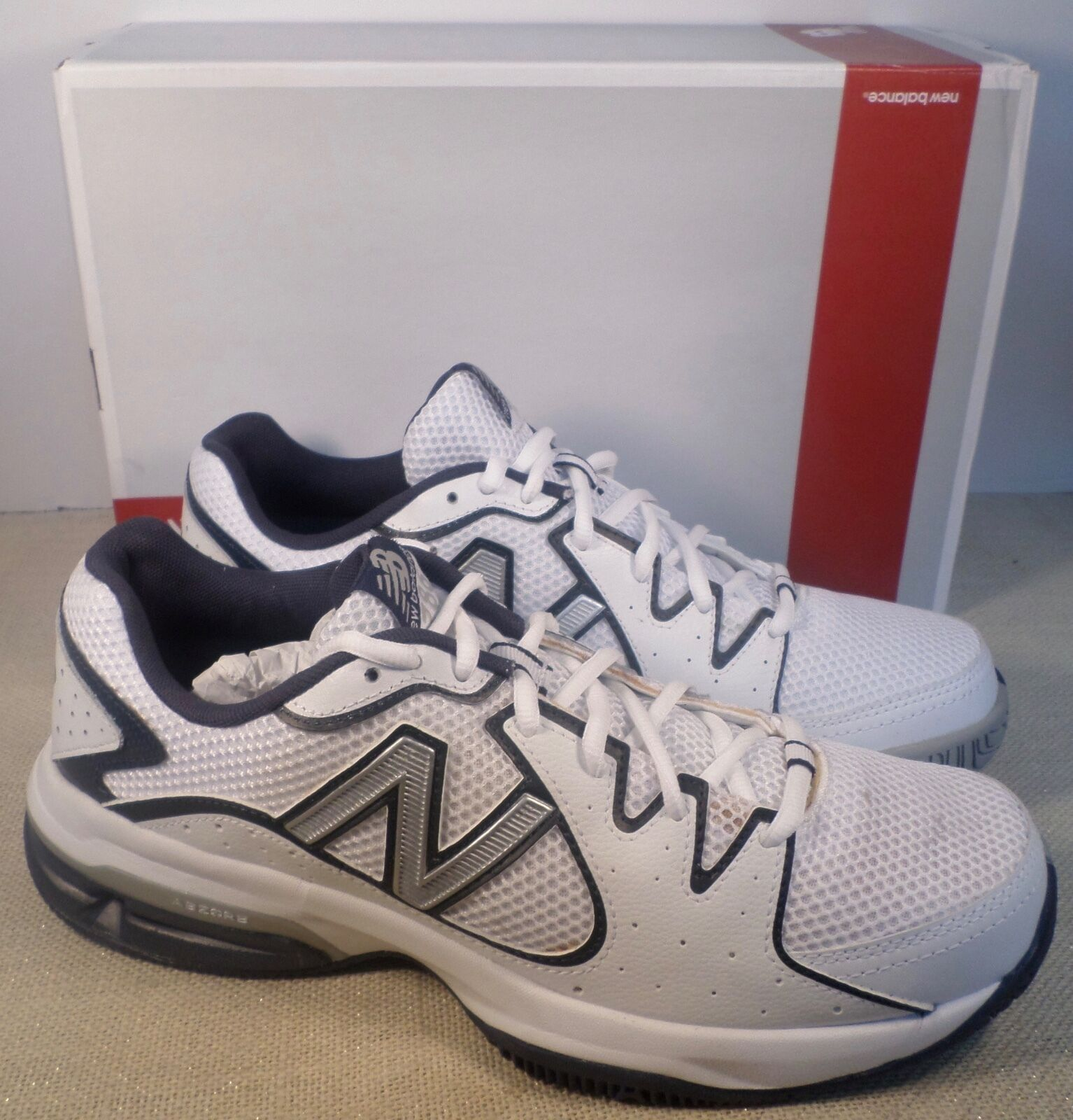 NEW BALANCE MC786WN MEN'S WHITE blueE ATHLETIC SNEAKERS NEW IN BOX