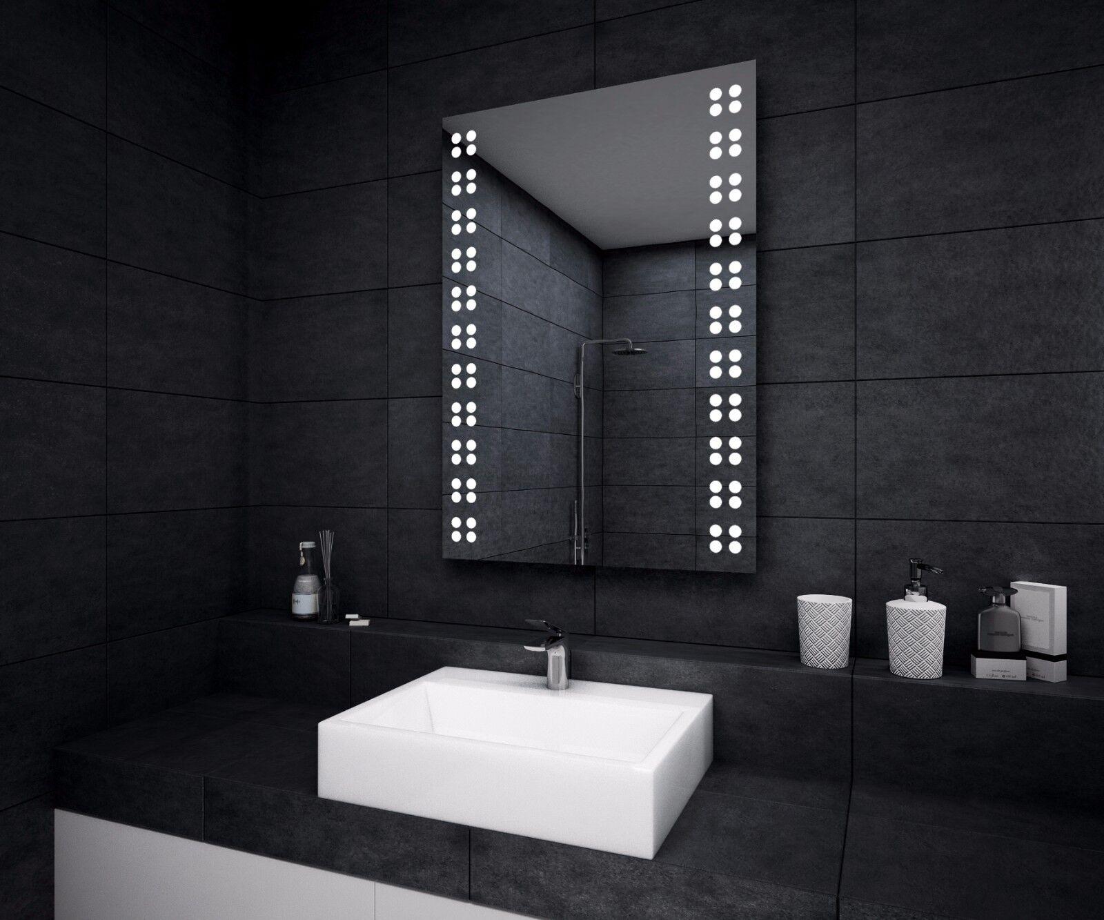 LED ILLUMINATED BATHROOM MIRROR   Demister   Sensor   Shaver