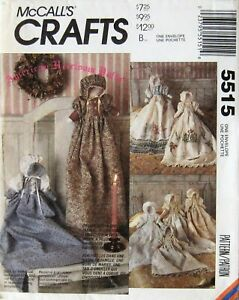 UNCUT-Vintage-AMERICAN-HEIRLOOM-STUFFED-DOLL-amp-GOWNS-McCall-039-s-Craft-Pattern-5515