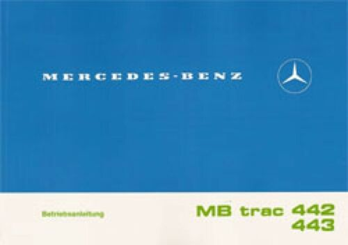 MB-Trac manuale di istruzioni mbtrac 442//443 1100//1300//1500