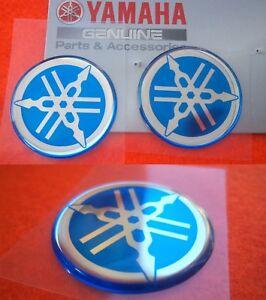 1 x YAMAHA GENUINE Tank Emblem Badge Gel Decal Sticker RED 30MM