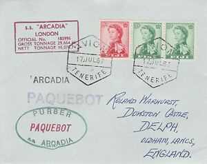 Fiji 4514 - Used in TENERIFE 1967 PAQUEBOT cover to UK