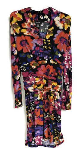 NEW WOMENS ASHRO MULTI COLOR BEAUTIFUL FLORAL DRESS SIZE XL
