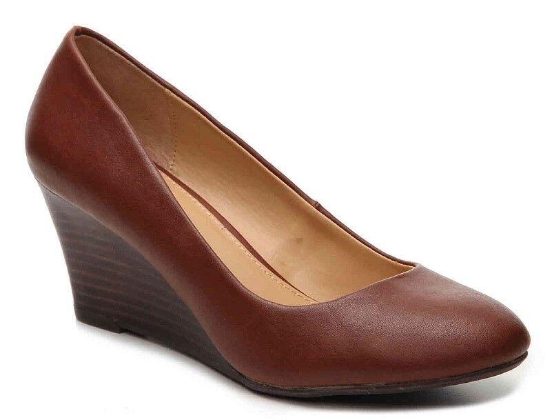 2768bb966266e Report Vasco wedge pump tan brown 2.5 heels sz 10 Med NEW nogkwk612-Women s  Sandals