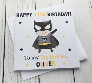 Image Is Loading Personalised Boys Batman Theme Little Brother Big