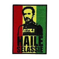 Famous Leader haile Selassie Iron-on Patch Rastafari African Unity Applique