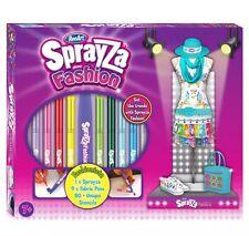 SF6011 Renart Sprayza Fashion Design Set Fabric Airbrush Pens Girls Age 7yrs+